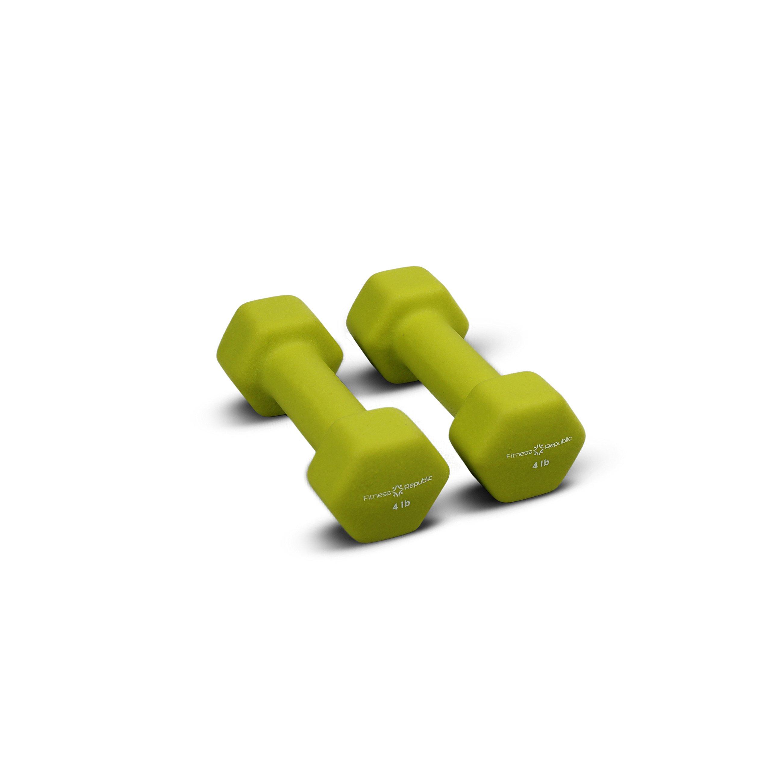 Fitness Republic Neoprene Dumbbells 4 lbs Set (Neoprene Weights)