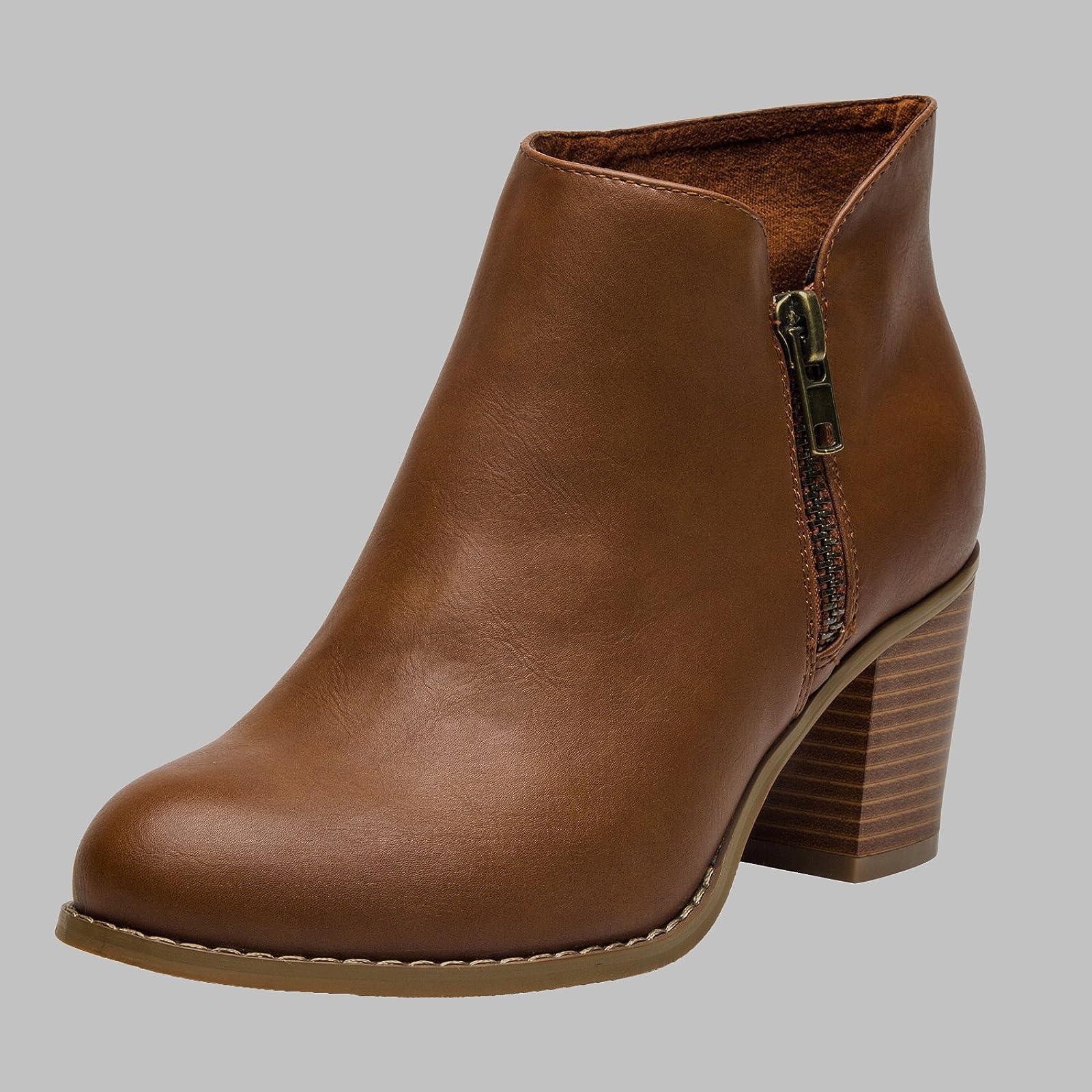 Luoika Plus Size Wide Width Ankle BootsWomen - 6