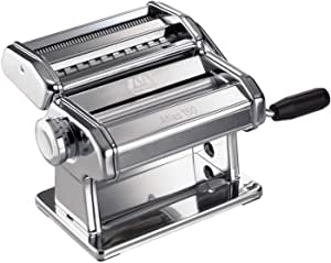 Marcato Atlas 150 Pasta Machine, Made in Italy, Includes Cutter, Hand Crank, and Instructions, 150 mm, Stainless Steel
