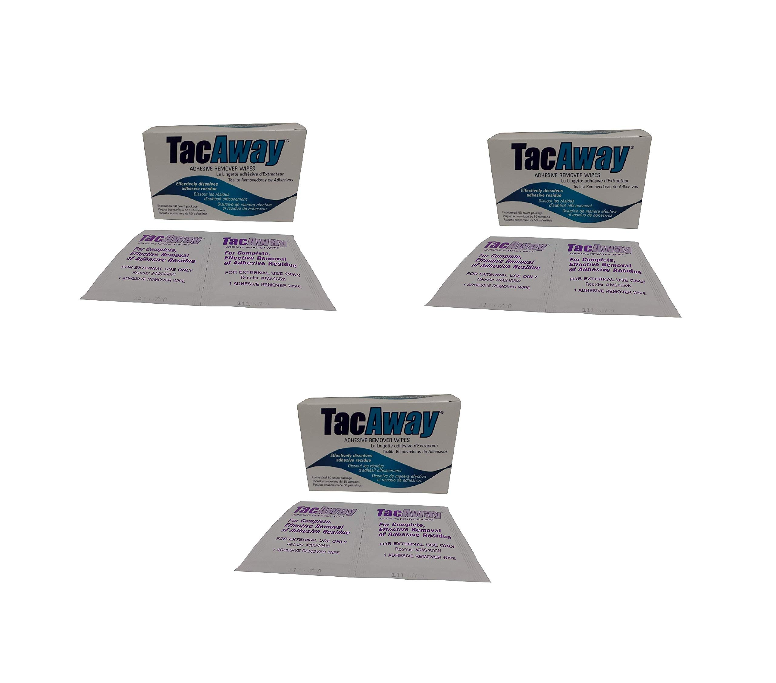 Turbot Adhesive Removing Wipes, 50 Count (3 Pack)