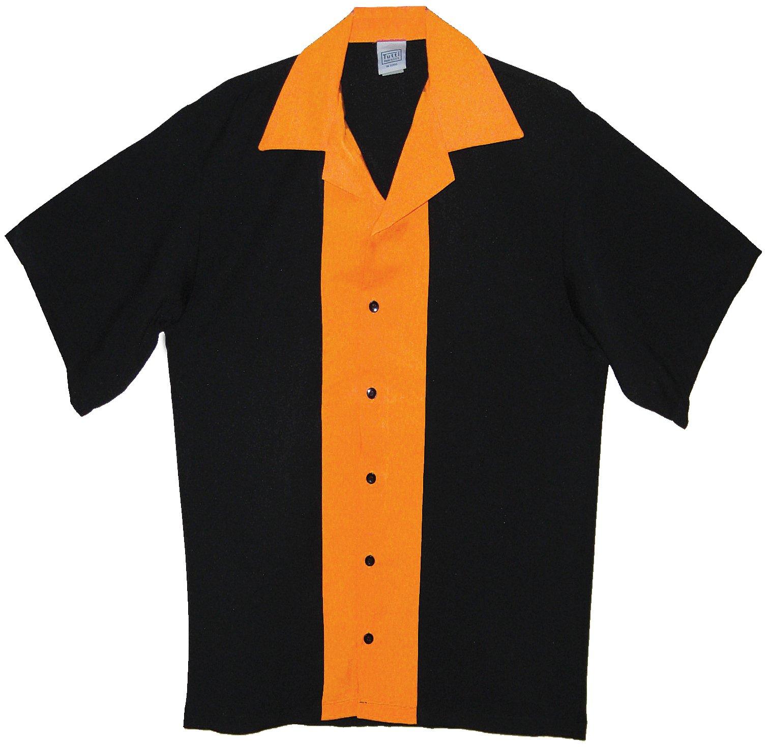 Tutti Mens Bowling Shirts (X X) Orange by Tutti
