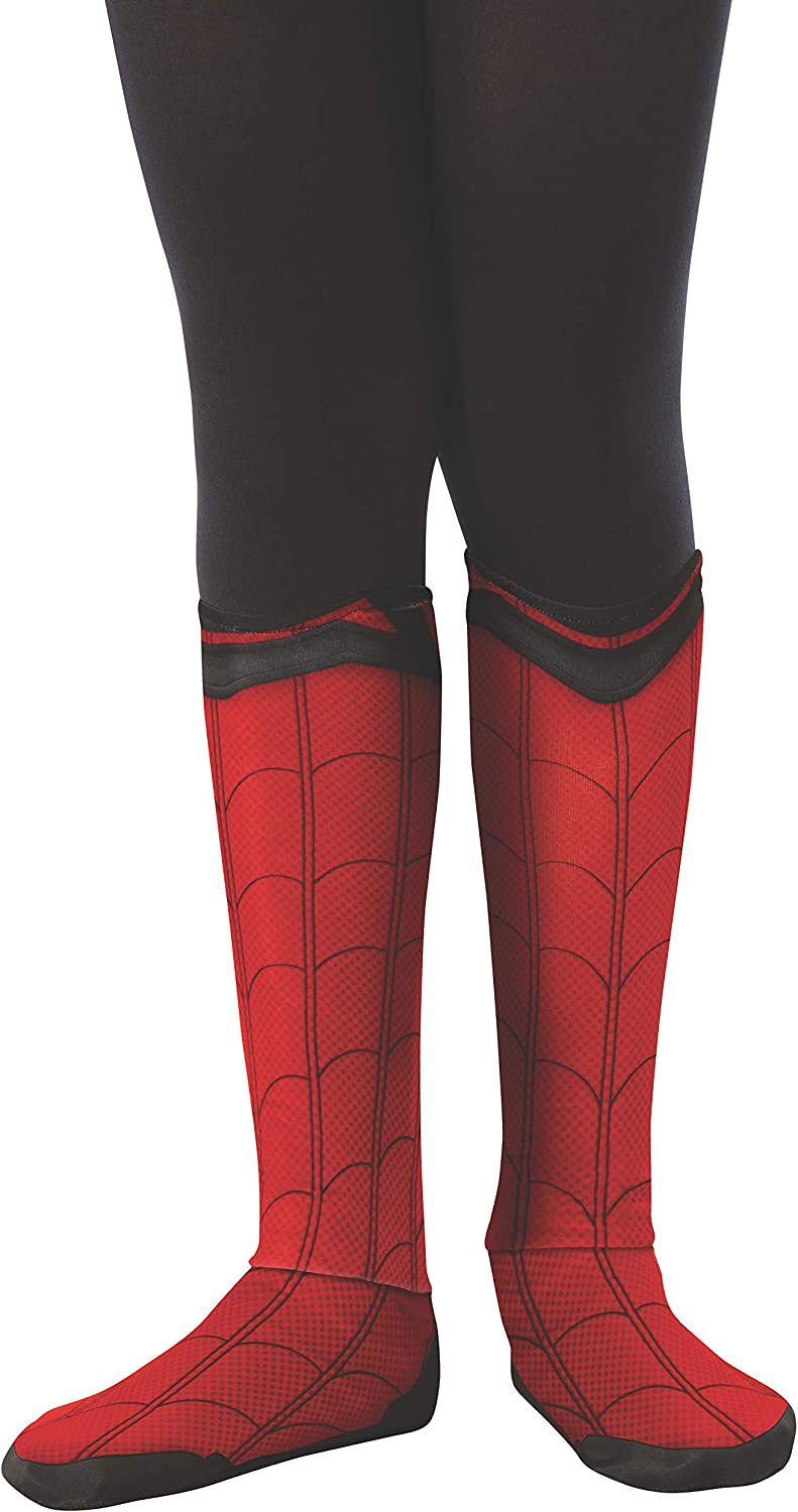Rubie's Marvel Spider-Man Far from Home Child's Spider-Man Fabric Boot-Tops