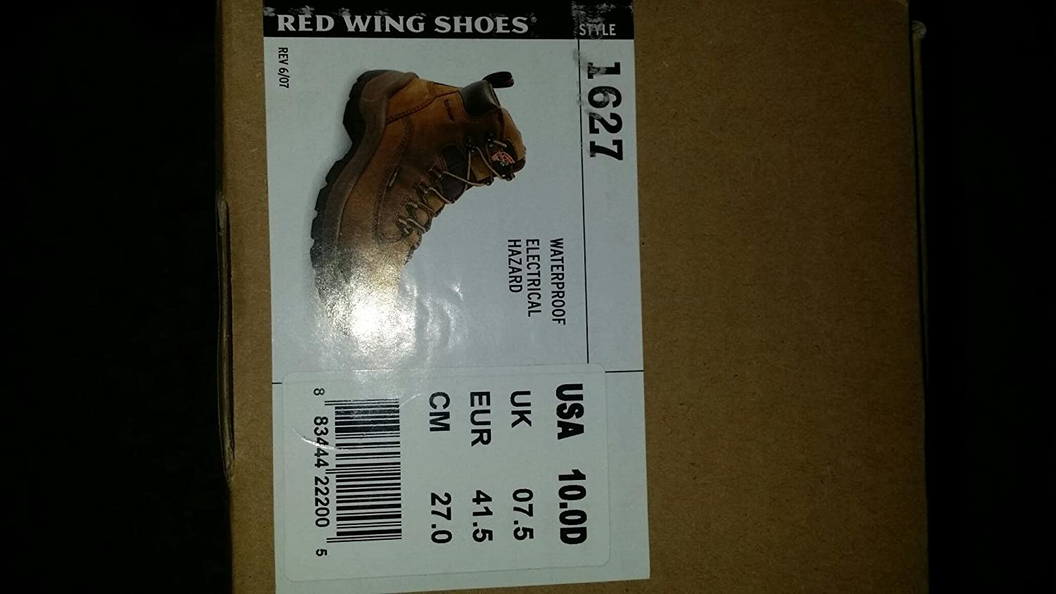 amazon com red wing 1627 womens 6 waterproof work boots 10d shoes