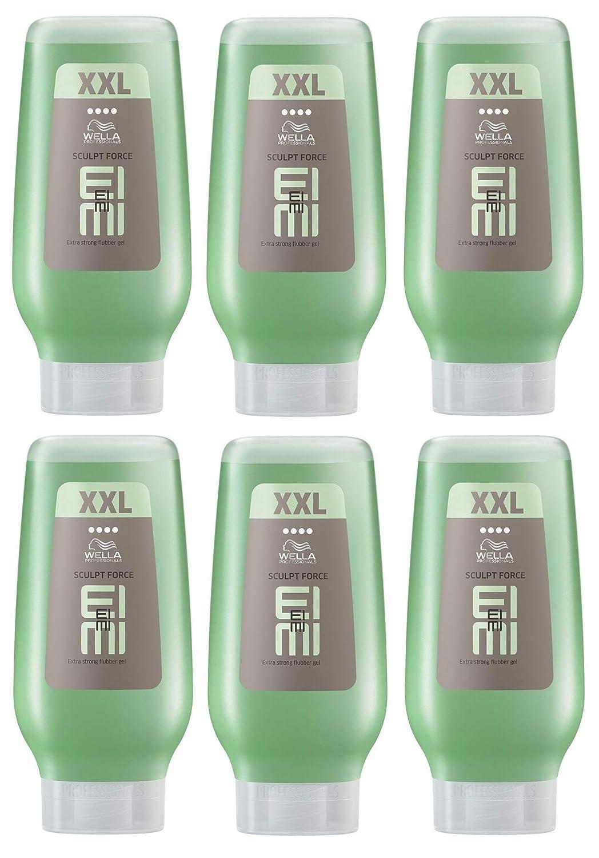 6x Wella XXL eimi sculpt Force Flubber Gel Extra Forte–250ml