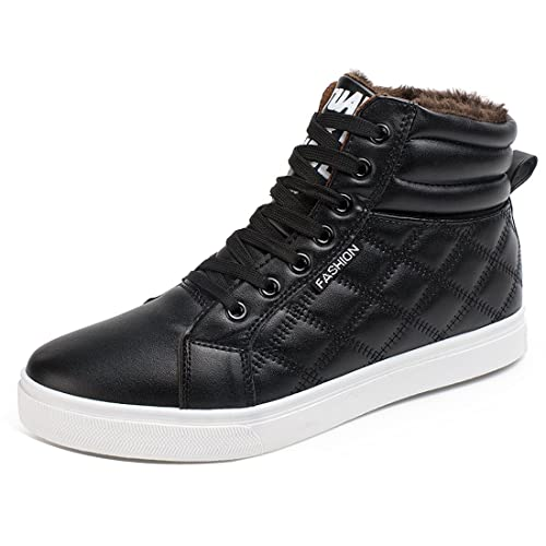 0284519d9aa Gaorui Men Winter Boots Snow Boots Lace Up Ankle Sneakers High Top Winter  Shoes with Fur