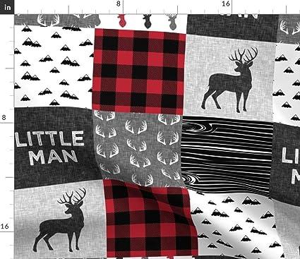 Amazon com: Spoonflower Little Man Cheater Quilt Deer Animal Nursery