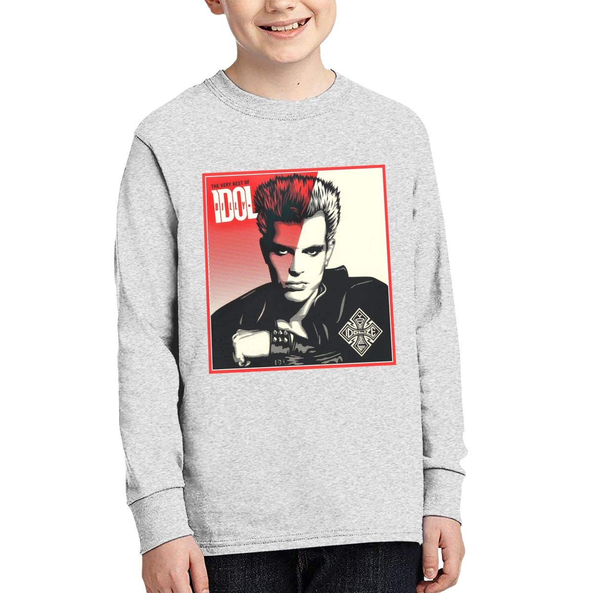 TWOSKILL Youth Billy Rebell Yell Idol Long Sleeves Shirt Boys Girls