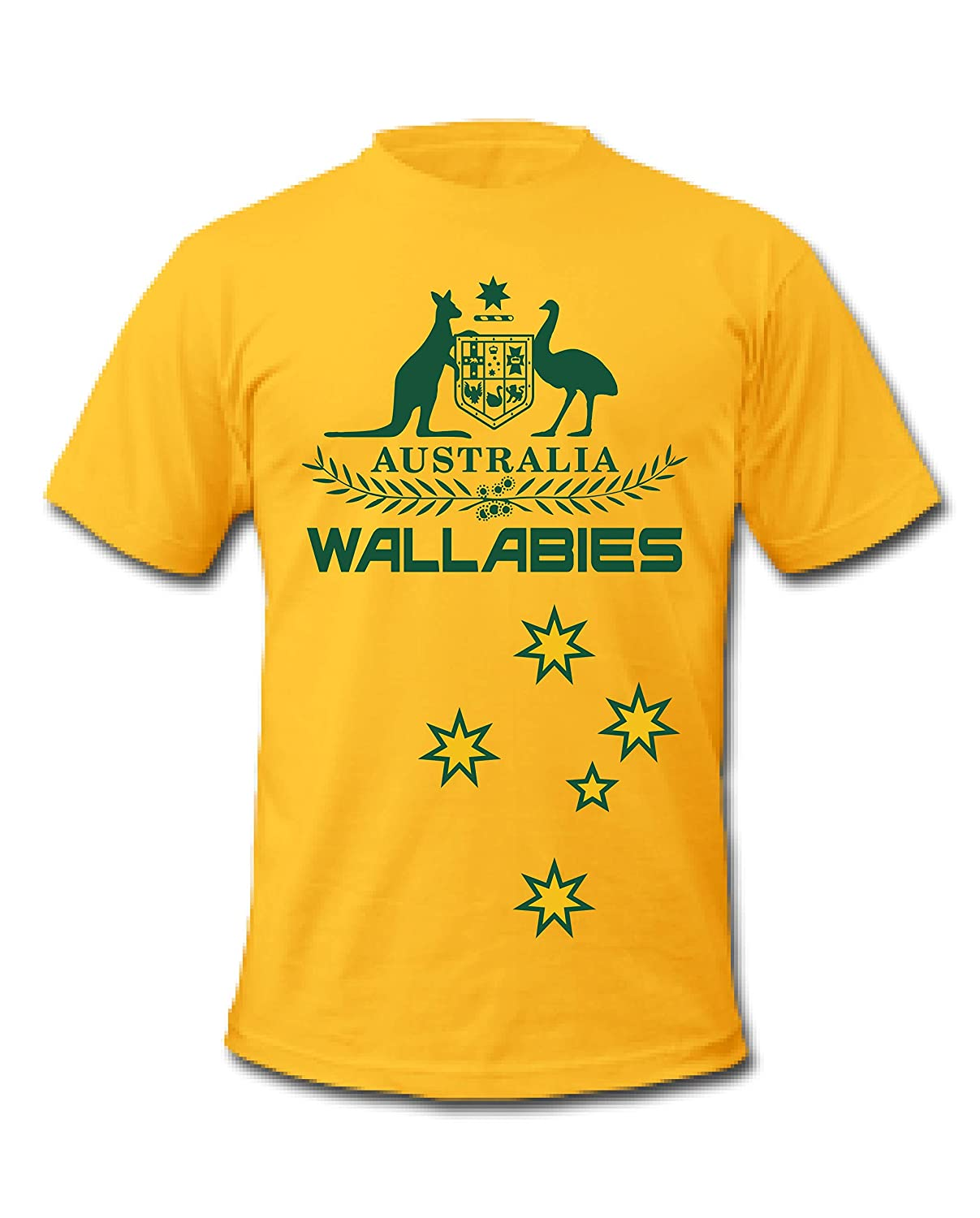 Wallabies Rugby World Cup Japan 2019 Australian Coat of Arms T-Shirts Yellow