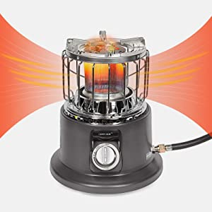 Campy Gear 2 in 1 Portable Propane Heater & Stove, Outdoor Camping Gas Stove Camp Tent Heater for Ice Fishing Hiking Hunting Survival Emergency & Patio (Taupe, CG-3000B)