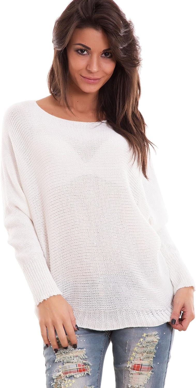 Maglione donna pullover maniche pipistrello maglioncino tricot nuovo AS-2031-1