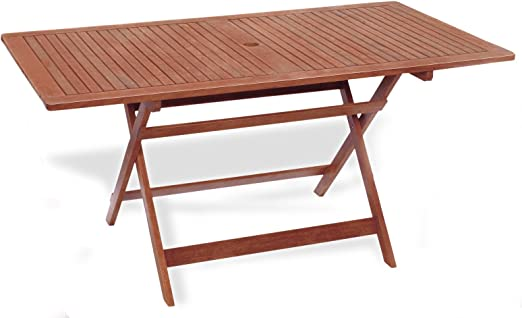 Mesa rectangular plegable 150 x 80 x 72 mesa de jardín mod ...