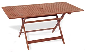 Table rectangulaire pliable 150 x 80 x 72 Table de jardin mod ...
