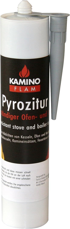 Kamino - Flam 333317 Pegamento Refractario para Chimeneas, Gris, 5x6x22 cm