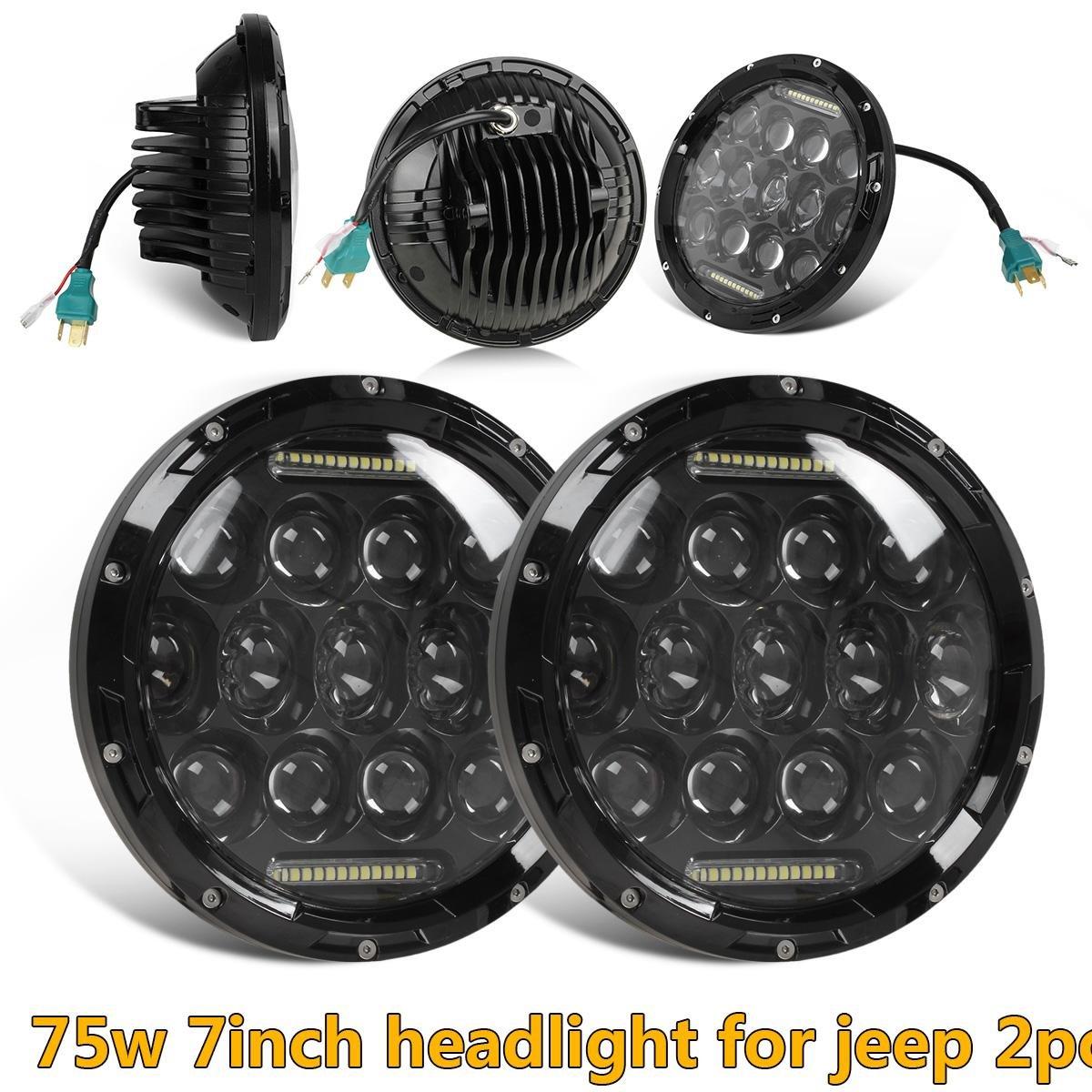 7 Led Headlights Amber Signal Turn Light 4 Quot Fog Lamp Kit