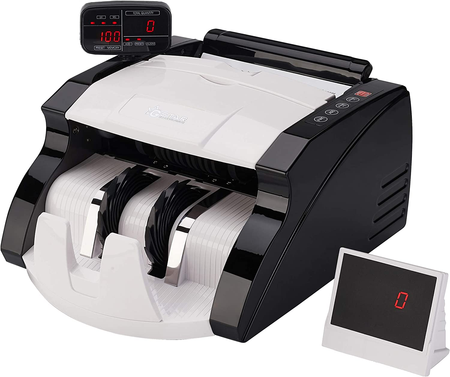 GStar Money Counter with UV/MG Counterfeit Bill Detection Plus External  Display and 30 Year Warranty