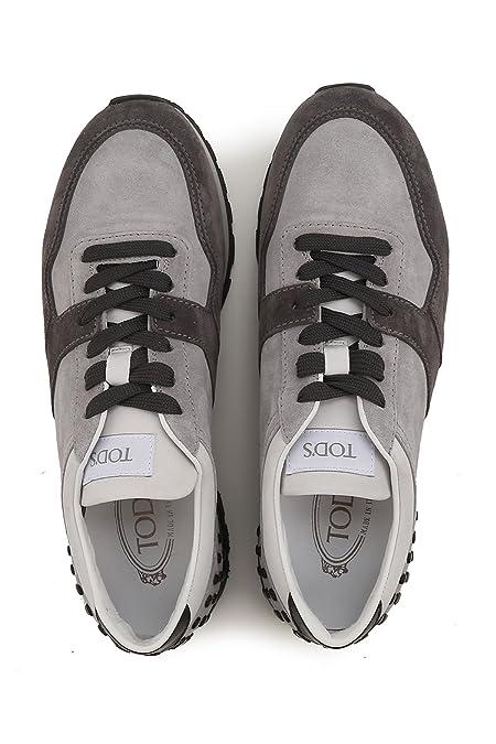 Tod s Sneaker camoscio e Tessuto Bicolore Grigio Uomo  Amazon.fr   Chaussures et Sacs 93586cc64c0