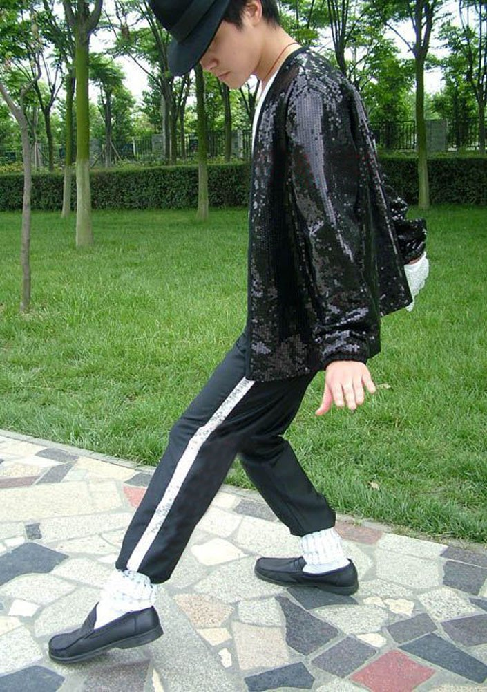 Pant Socks Glove Shuanghao Halloween Cosplay Costume Adatto per i Fan di Michael Jackso Cosplay 4 Pezzi MJ Billie Jeans Jacket