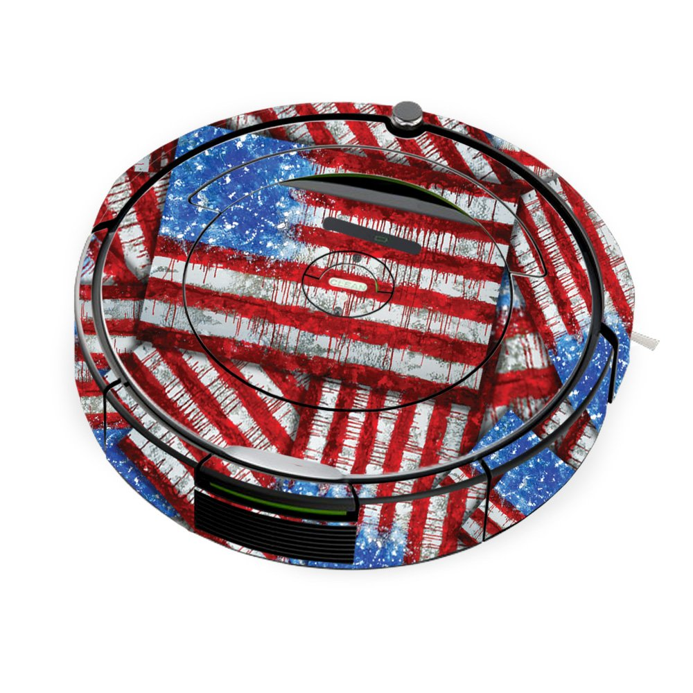 MightySkins Skin for iRobot Roomba 690 Robot Vacuum - Flag Drips | Protective, Durable, and Unique Vinyl Decal wrap Cover | Easy to Apply, Remove, and Change Styles | Made in The USA