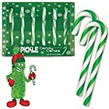 DILL PICKLE Flavor Candy Canes CANE Box of 6