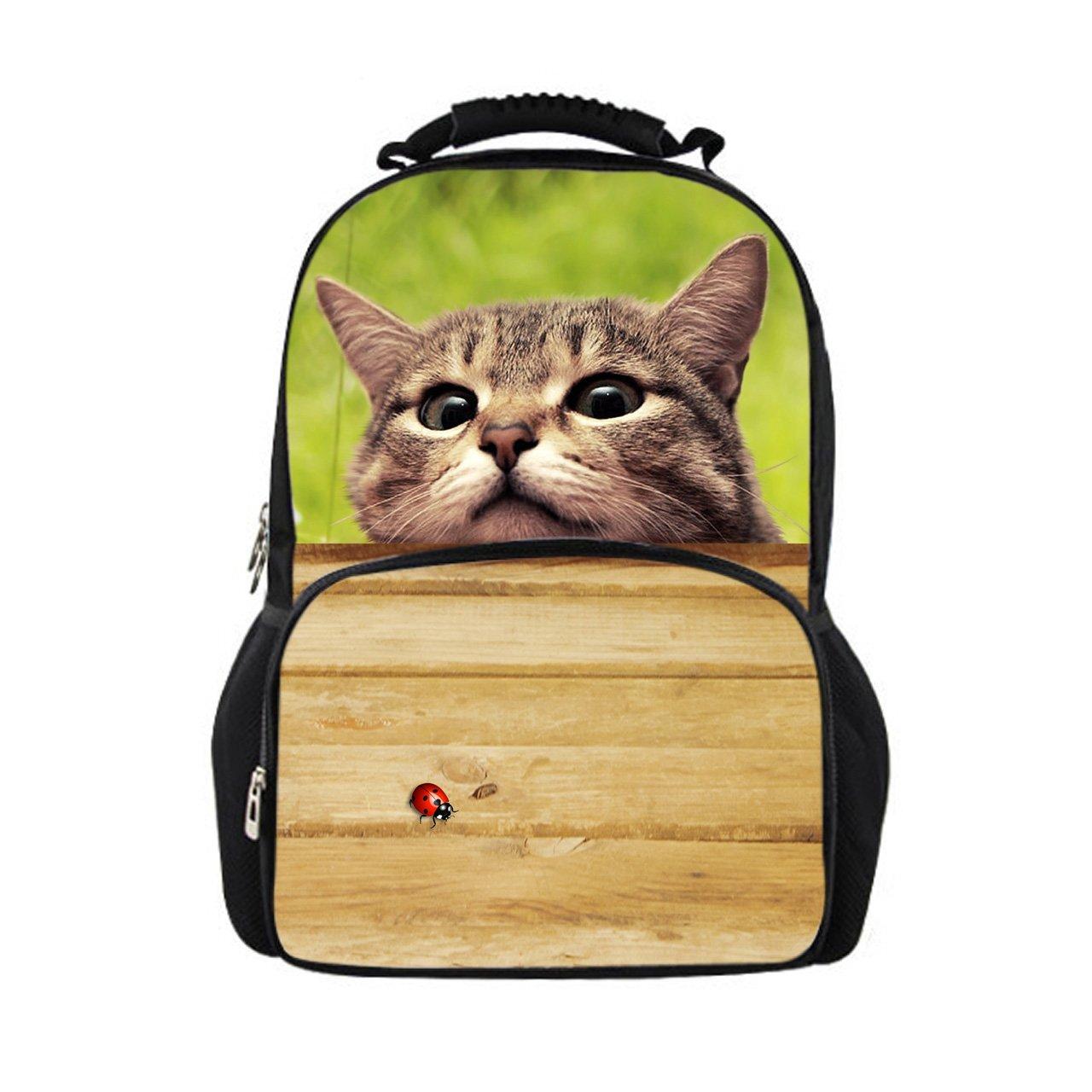 Nopersonality - Bolso al hombro para mujer Amarillo Ladybird & Cat