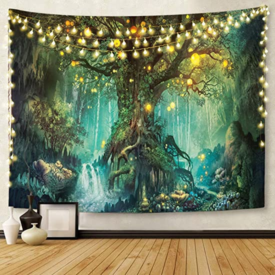 Britimes Tapestry Wall Hanging,70x90inches Forest ElvesTapestry Nature Wall Hanging Tapestry for Bedroom Living Room Dorm Decor Home Decoration Art