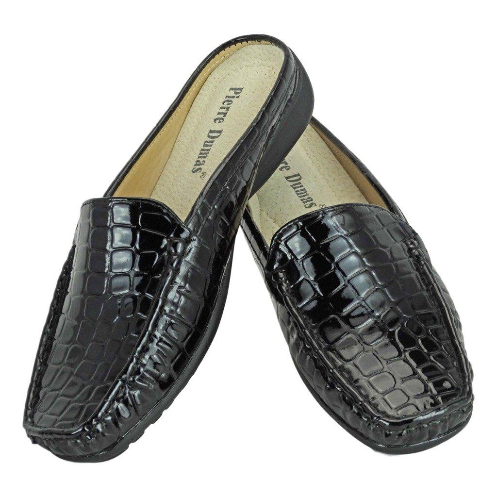 Pierre Dumas Women's Hazel-23 Vegan Croco Patent Leather Slip-On Mule 81204