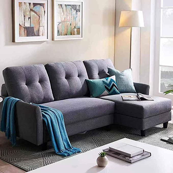 Honbay L Shape Couch Bed Sofa Reversible Sleeper Sectional Corner Couch With Storage Chaise Right Hand Facing Amazon In Home Kitchen