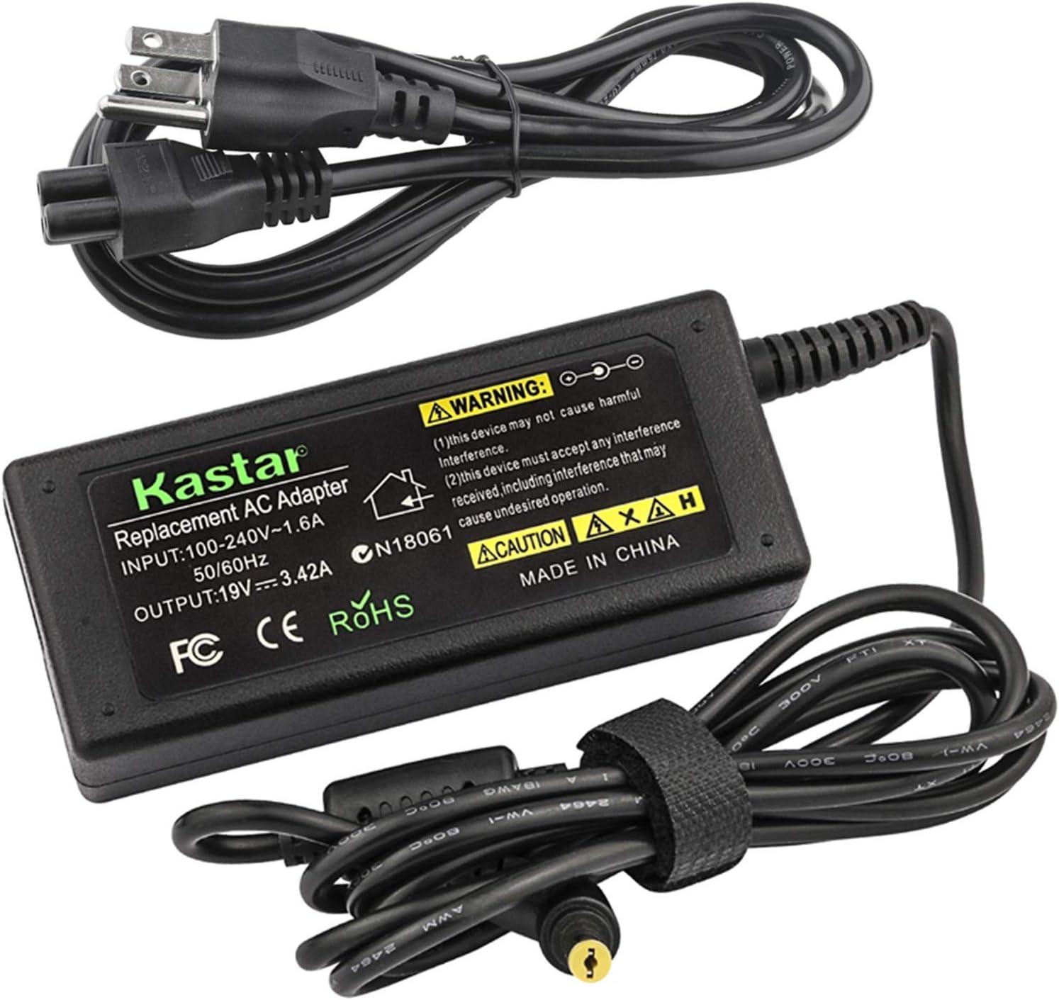 Kastar AC Adapter / Power Supply Replacement For Gateway Ne56r31u Ne56r34u Nv55c35u Nv55c38u Ne56r11u Ne56r12u Nv75s Nv75s02u Nv59c63u Nv59c65u Ne56r16u Ne56r27u Nv52l15u Nv56r10u Nv55s15u Nv57h20u