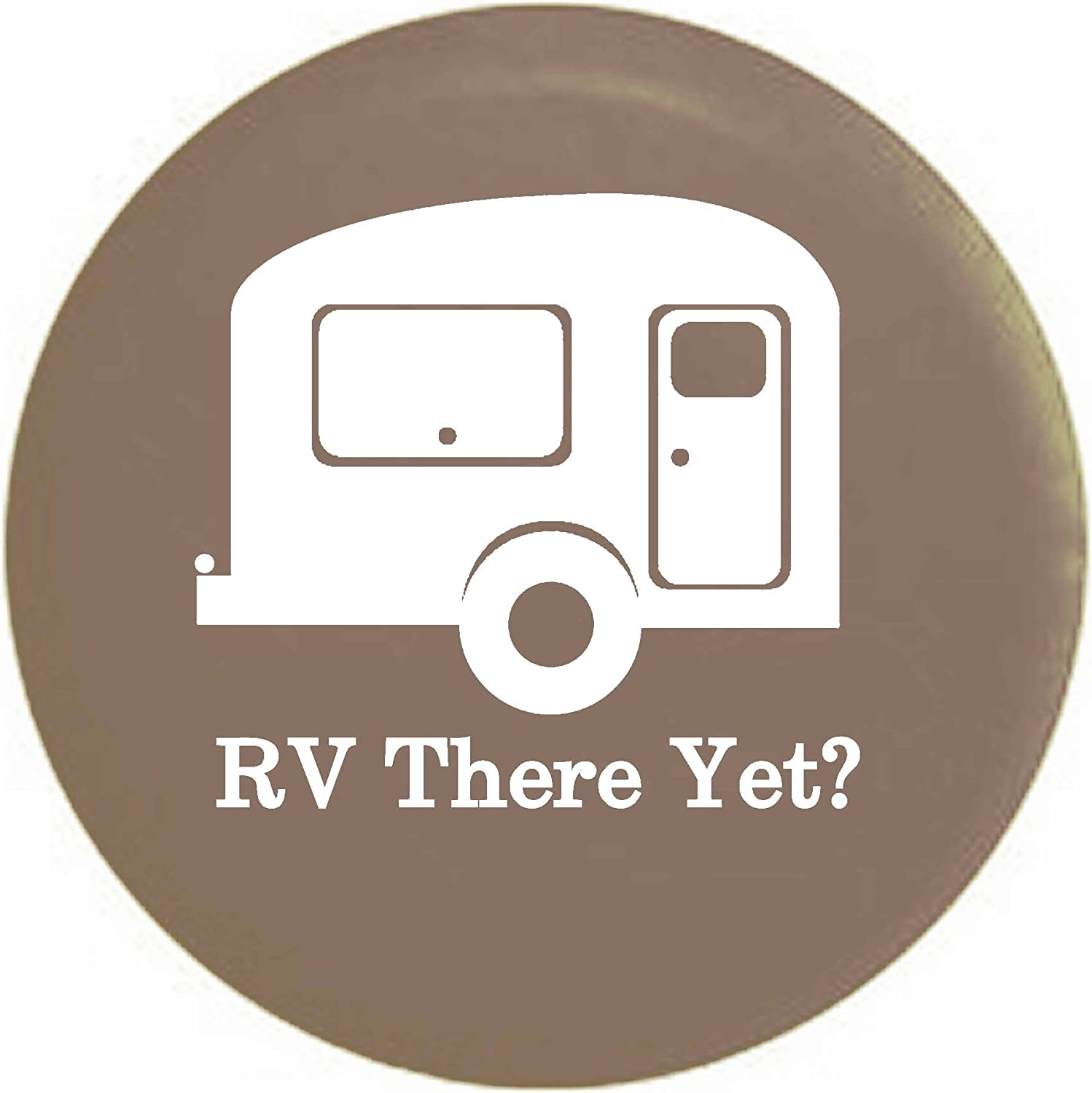TravelCamper Trailer RV Spare Tire Cover OEM Vinyl Tan 31 in Pike RV There Yet
