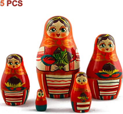 The Wonderful Wizard of Oz Matryoshka Russian Nesting Dolls Babushka Set 7 Pcs