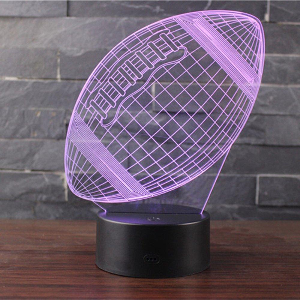 3D Optische Illusions-Lampen NHsunray LED 7 Farben Touch-Schalter /Ändern Nachtlicht F/ür Schlafzimmer Home Decoration Hochzeit Geburtstag Weihnachten Valentine Geschenk NBA-Krieger