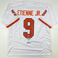 $224 » Autographed/Signed Travis Etienne Jr. Clemson White College Football Jersey Beckett BAS COA