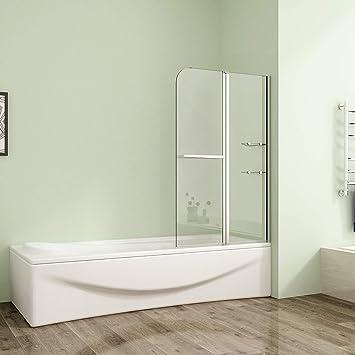 Perfekt Drehen 180° Aufsatz Badewanne Duschwand Trennwand Duschabtrennung 120x140cm  B2S H12