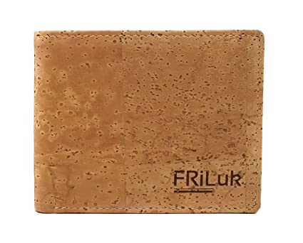 6d87eef187cc FRiLuk Vegan Wallet RFID Blocking with Coin Pocket Made of Cork (Natural)   Amazon.co.uk  Luggage