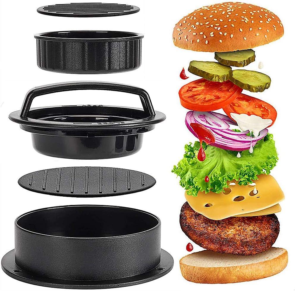CHEPL Burger Presse /à Viande 3 en 1 Presse /à Hamburger Boulettes de Viandes Accessoires