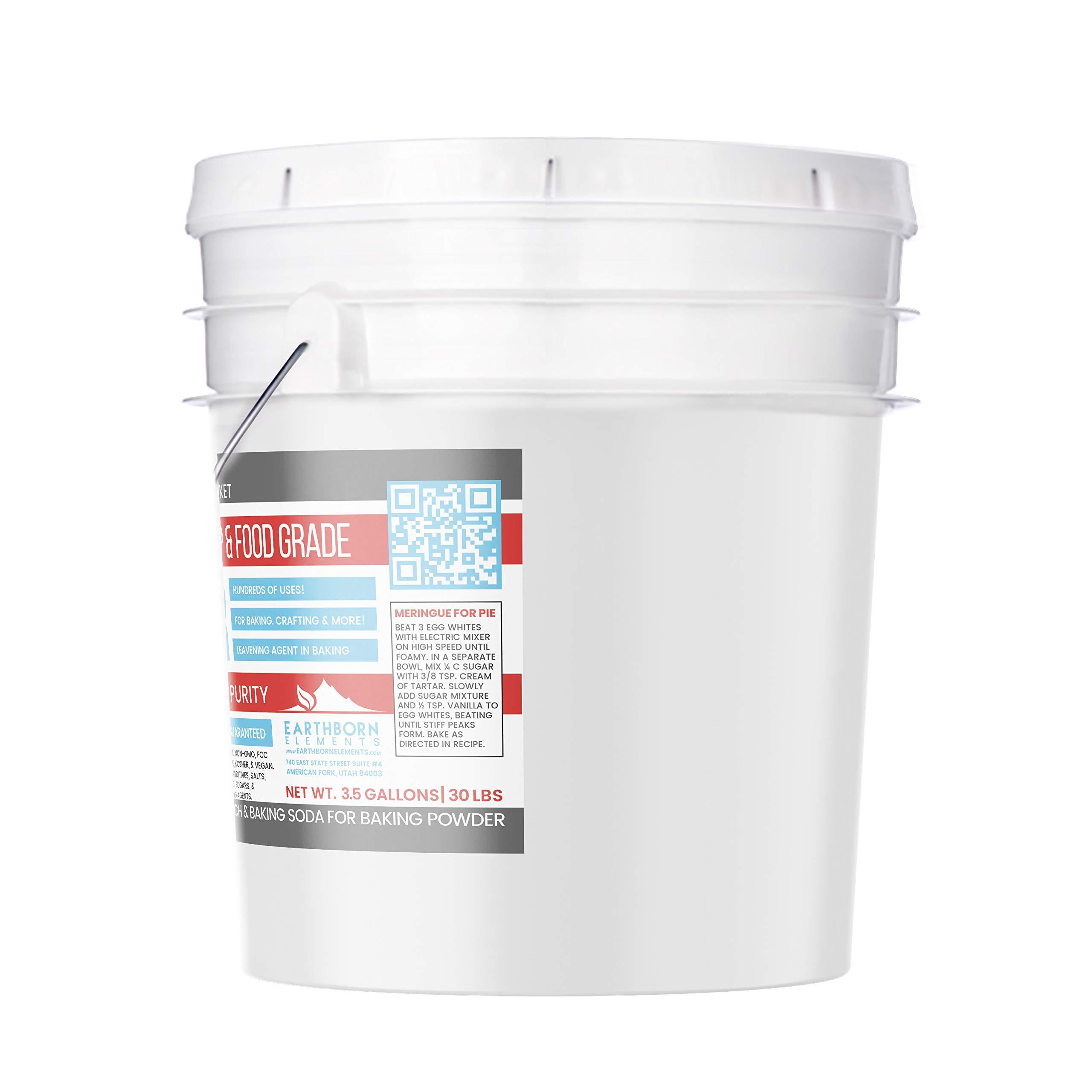 Cream of Tartar (3.5 Gallon) by Earthborn Elements, Resealable Bucket, Highest Purity, Baking Additive, Non-GMO, Kosher, Gluten-Free, All-Natural, DIY Bath Bombs by Earthborn Elements (Image #2)