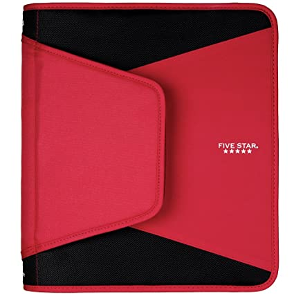 Cinco estrella cremallera cartón, color Red 2