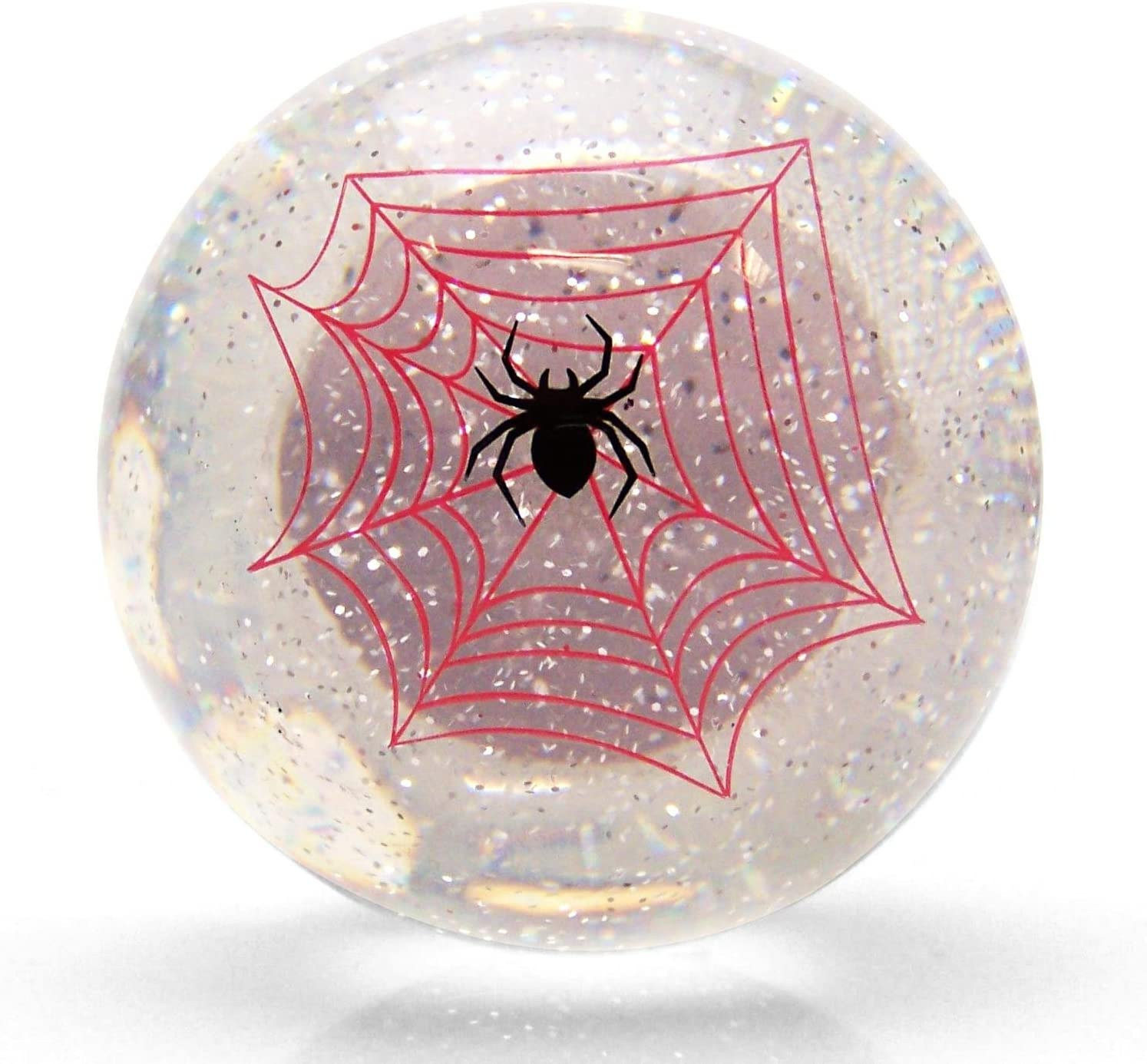 American Shifter 15658 Clear Spider Suicide Brody Knob Translucent with Metal Flake
