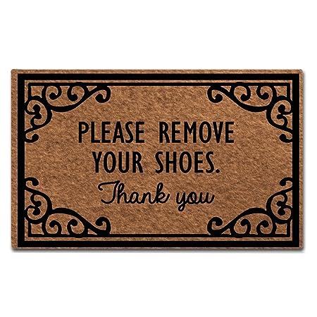 f9d6874015028 Maplehome Doormat Indoor Non-Slip Entrance Floor Mat Funny Doormat Take Off  Shoes Door Mat Outdoor Rubber Mat Non-woven Fabric Top Rubber Back ...