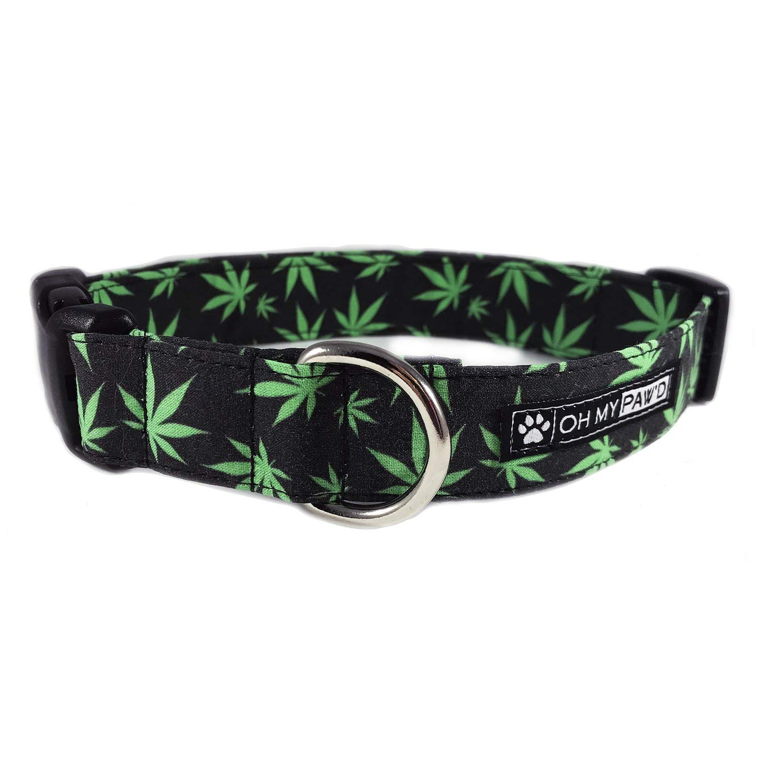 Pot Leaf Dog or Cat Collar for Pets Size Small 3/4