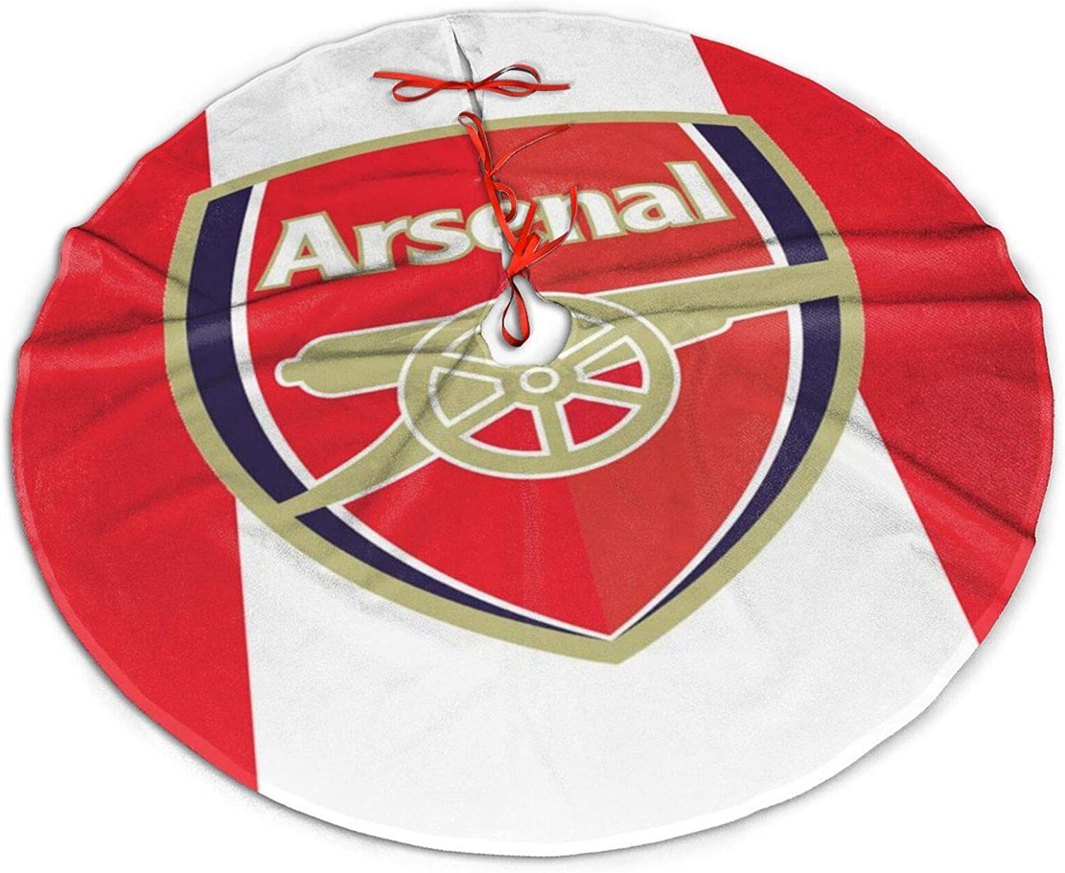 Logo Arsenal Fc Christmas Tree Skirt 36 Inch Holiday Home Decor ,Soft, Light and Good to Touch