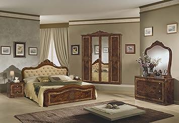 Schlafzimmer Lucy walnuss 180x200cm Barocco Italien Italia ...