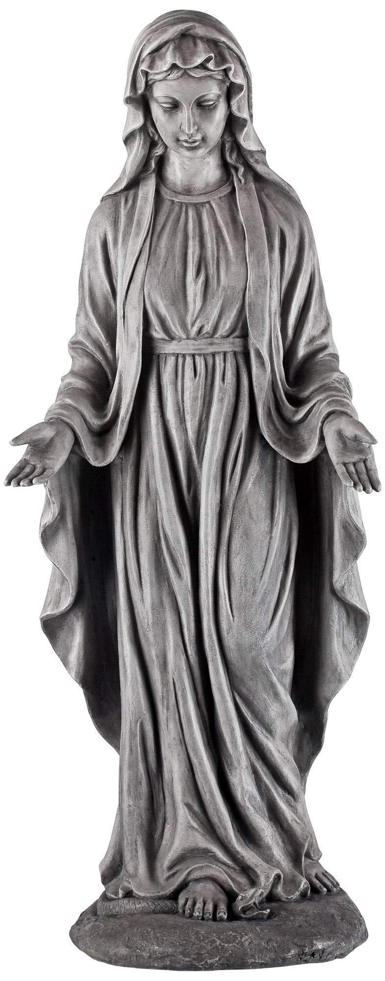 John Timberland Virgin Mary Gray Stone 29'' High Outdoor Statue