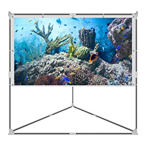 JaeilPLM 100 Inch Wrinkle-Free Portable Outdoor Projection Screen