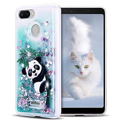 SpiritSun Funda Xiaomi Redmi 6, Carcasa Xiaomi Redmi 6, Transparente Líquido Bumper Tapa Silicona Case Flexible Gel TPU Bling Suave Protectora Caso ...
