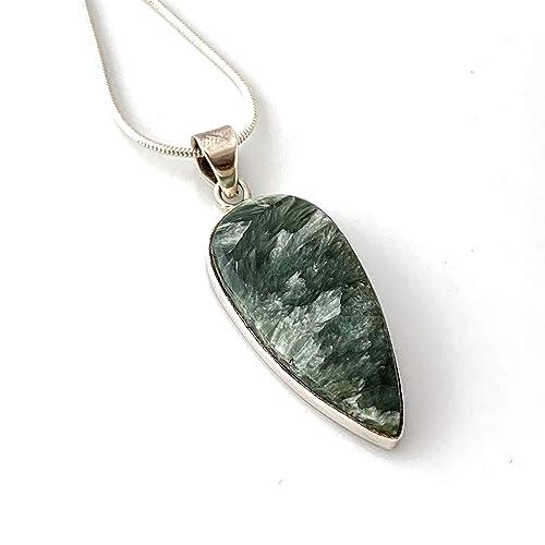 Sterling Silver Seraphinite Pendant