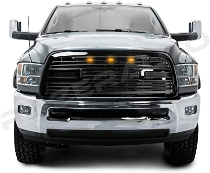 09-12 Dodge RAM 1500 Replacement Big Horn Black Packaged Grille+Black Shell