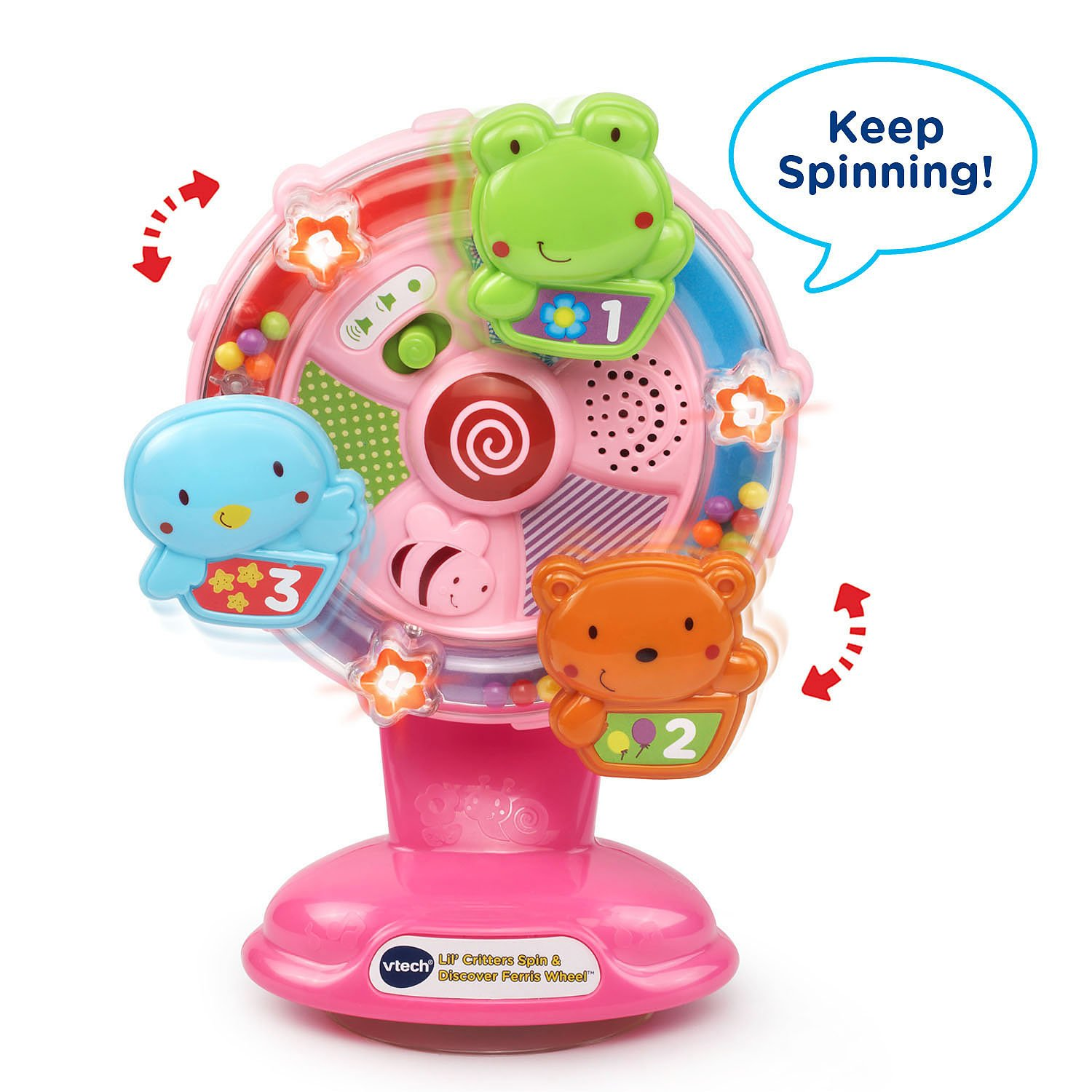 VTech Lil' Critters Spin and Discover Ferris Wheels, Pink (Amazon Exclusive) by VTech (Image #2)