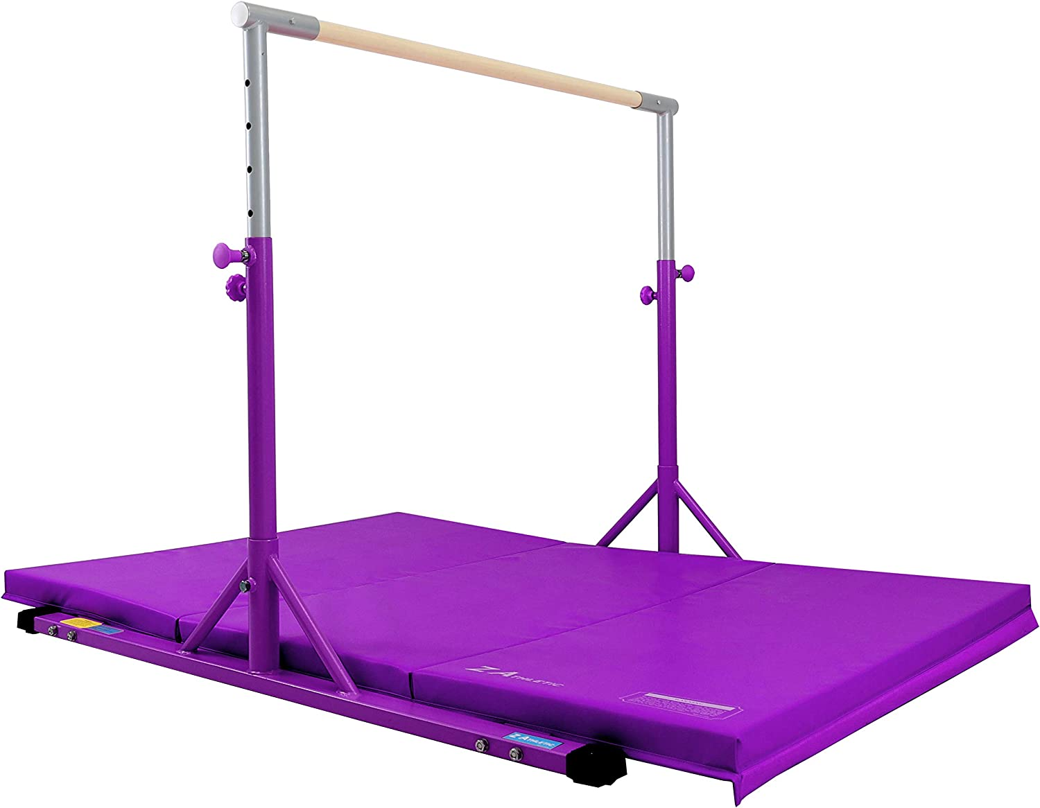 Z Athletic Kip Bar and Gym Mat Multiple Sizes and Colors