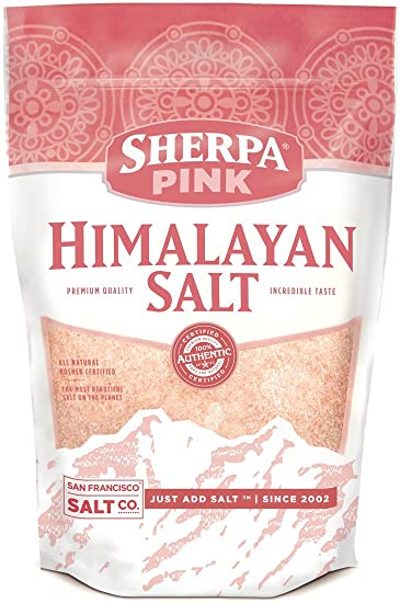 Sherpa Pink Himalayan Salt, 2 lbs  Extra-Fine Grain  Incredible Taste  Rich  in Nutrients and